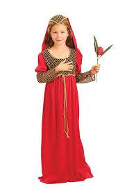 Tudor Halloween Costumes Juliet Tudor Red Queen Girls Childrens Fancy Dress Costume Ebay