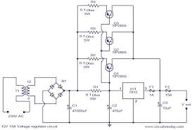 12v 15a voltage regulator electronic circuits and diagram