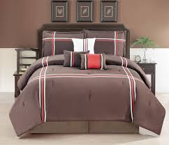 Red And White Comforter Sets Contemporary Plaid Comforter Set Full Queen Bed Striped Bedding