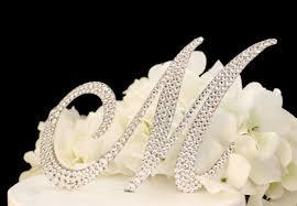 k cake topper monogram wedding cake topper in any letter