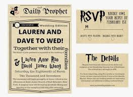harry potter wedding invitations umpteen harry potter wedding ideas misfit wedding