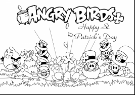 excellent angry birds st patricks day coloring pages with st