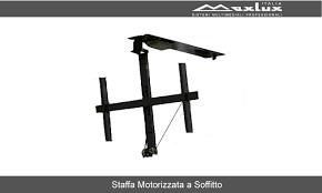 porta tv soffitto mxb75 accessori per monitor e tv staffe a soffitto motorizzati