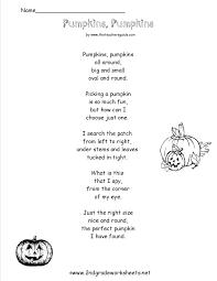 Halloween Shape Poems Pumpkin Coloring 3 Worksheets Free Printable Worksheets Free