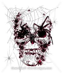 skull back spider web