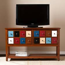 Black Tv Cabinet With Drawers Furniture Appealing Attractive Apothecary Tv Stand And Charming