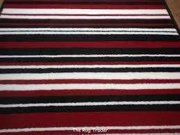 Modern Rugs Co Uk Review by Modern Stripe Rug Red Black Hall Runner 60cm X 220cm Amazon Co Uk