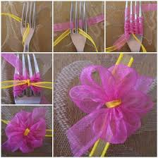 ribbon bow diy ribbon bow with a fork
