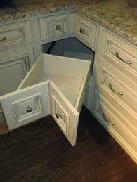 Corner Kitchen Cabinet Storage by Smart Corner Cabinet Door Design Kitchens Forum Gardenweb An