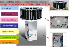 paint color tinting machine with manual dispenser coating color