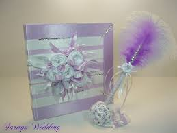 purple guest book wedding guest book and pen crystals personalized guest book
