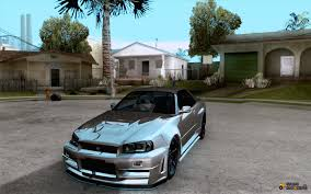 nissan r34 fast and furious skyline gt r r34 from fnf 4 for gta san andreas