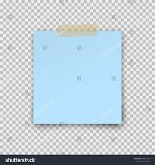 Note Sheet Template Paper Sheet On Sticky Shadow Stock Vector 534371560