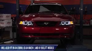 2002 ford mustang headlights mustang raxiom chrome projector headlights dual ccfl halo 99 04