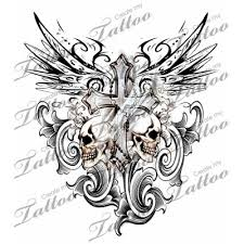 crosses skull design cross tattoos cross with