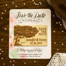 Rustic Save The Date Magnets Sample Die Cut Wood Save The Date Magnet Paper Backing Card Stock