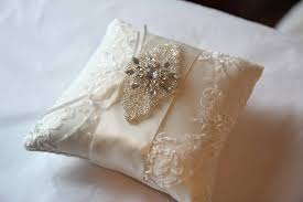 wedding pillow rings beaded lace wedding ring pillow by gilly gray notonthehighstreet