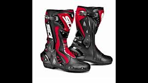red motorbike boots sidi st motorcycle boots black red thevisorshop com youtube