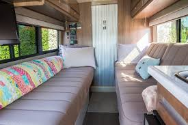 Cabin Beds With Sofa by Honey I Shrunk Our Rv We Travel In A Van Now U2013 The Snowmads