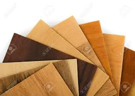 Laminate Flooring Free Samples Wood Sample Swatches Fan On White Background Stock Photo Picture