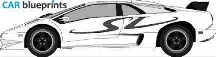 lamborghini diablo drawing car blueprints lamborghini diablo sv blueprints vector drawings