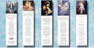 funeral program sle funeral bookmarks memorial funeral stationery