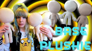 make your own plush tutorial how to make a base plushie anime human character