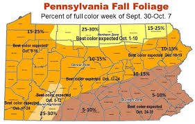Map Of Central Pennsylvania by Fall Foliage 2015 Colors Coming On Strong In Pennsylvania U0027s