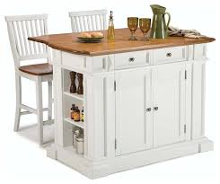 stationary kitchen island kitchen island and stools white and distressed oak traditional