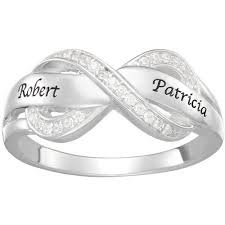 name ring personalized s sterling silver infinity name ring walmart