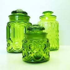 vintage glass canisters kitchen colored glass kitchen canisters foter