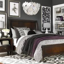 Grey And Purple Bedroom by Primarily Grey Scale Leaving Room For Colorful Accents Ooooh