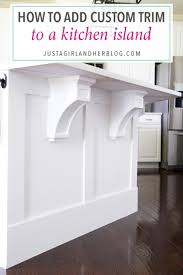 how to install a kitchen island how to add custom trim to a kitchen island just a and