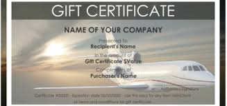 travel gift certificates certificate templates printable sles