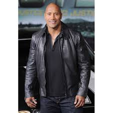 motorcycle style leather jacket handmade new faster the rock dwayne johnson black leather jacket