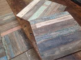 beautiful fair trade recycled removable wooden floor tiles from