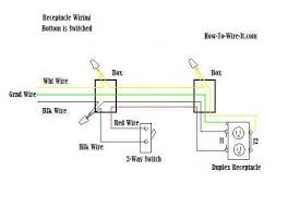 switch and plug wiring diagram switched gfci outlet wiring diagram