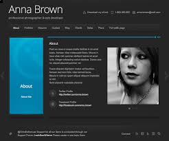 resume website template download free personal templates one page
