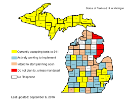 Michigan Counties Map Text To 911 Service Goes Live In Kalamazoo County Mlive Com