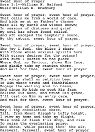 Wedding Wishes Lyrics Wedding Hymns And Songs Sweet Hour Of Prayer Txt Lyrics Chords