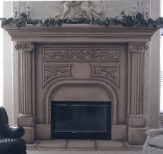 remarkable brown roman precast fireplace mantels design plus