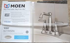 hd689 moen vale 4 u201d centerset 2 handle bathroom faucet resist