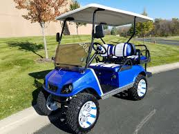 club car blue club car ds spartan elite street legal gas golf cart
