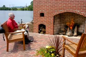 decor red glen gery brick for elegant outdoor fireplace wall decor