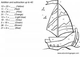 addition and subtraction worksheets up to 40