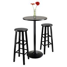 X Bar Table Pretty Roundhill Nor Hill Black Metal Height Bar Table Set