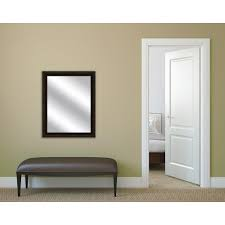 yosemite home decor mirror with wood frame shallow brown texture brown framed mirror