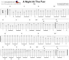 Picking Sheet A Night At The Fair Jig Sheet Music Guitar Tab Guitarnick Com