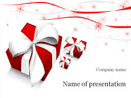 christmas gifts powerpoint template u0026 background for presentation