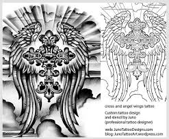 cross and angel wings tattoo tattoo template how to create a